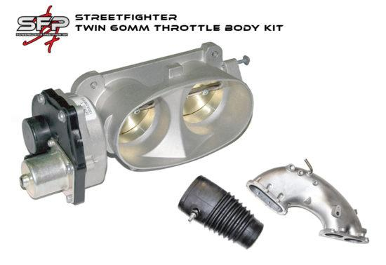 Streetfighter Twin 60mm Throttle Body Kit (Includes intake casting, tbody, rubber ducting)