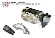 Load image into Gallery viewer, FG Streetfighter Twin 65mm (Ford Racing) Throttle Body Kit (Inc. intake casting, tbody, rubber ducting)
