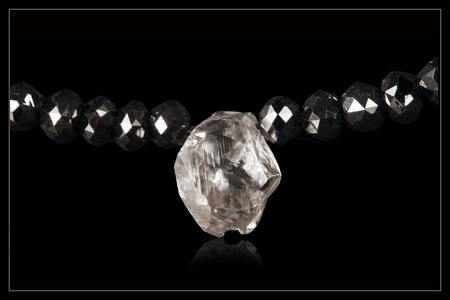 Hvid & Sort Diamantcollier - <strong>1.50 ct. & 32.24 ct.</strong>
