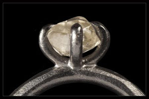Twistet Sort Rhodineret Ring - <strong>1.29 ct.</strong>