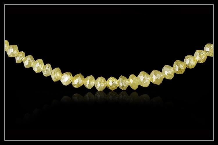 Gul Sol Diamantcollier - <strong>19.01 ct.</strong>