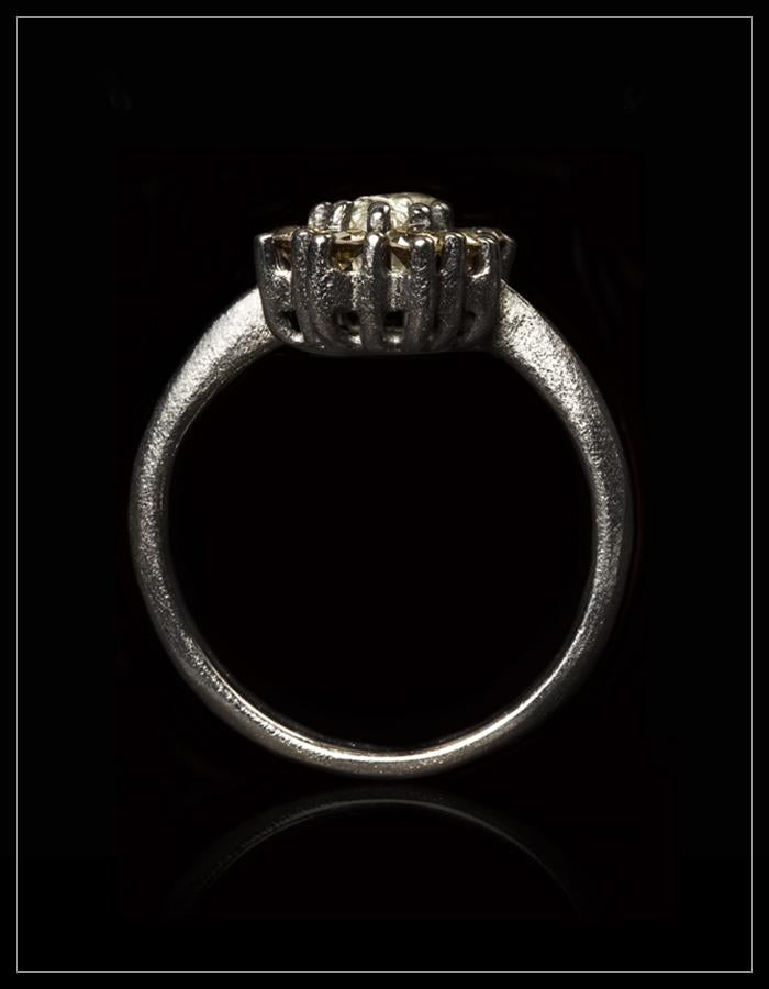 Underspillet Rå Diamant & Brillant Ring - <strong>0.73 ct. + 0.51 ct.</strong>