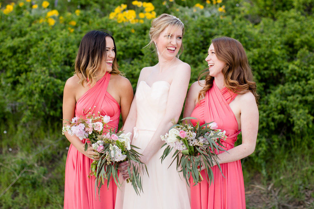 The Jersey Maid Convertible Bridesmaid Dress - Coral