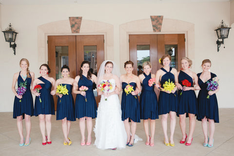 The Jersey Maid Convertible Bridesmaid Dress - Navy