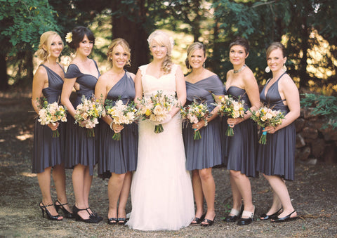 The Jersey Maid Convertible Bridesmaid Dress - Gray