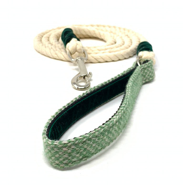 Green & Dove - Harris Design - Rope Dog Lead
