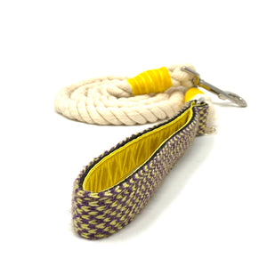 Yellow & Purple - Harris Design - Rope Lead