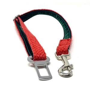 Red & Geranium - Harris Design - Dog Seatbelt