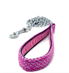 Pink & Dove - Harris Design - Chain Dog Lead