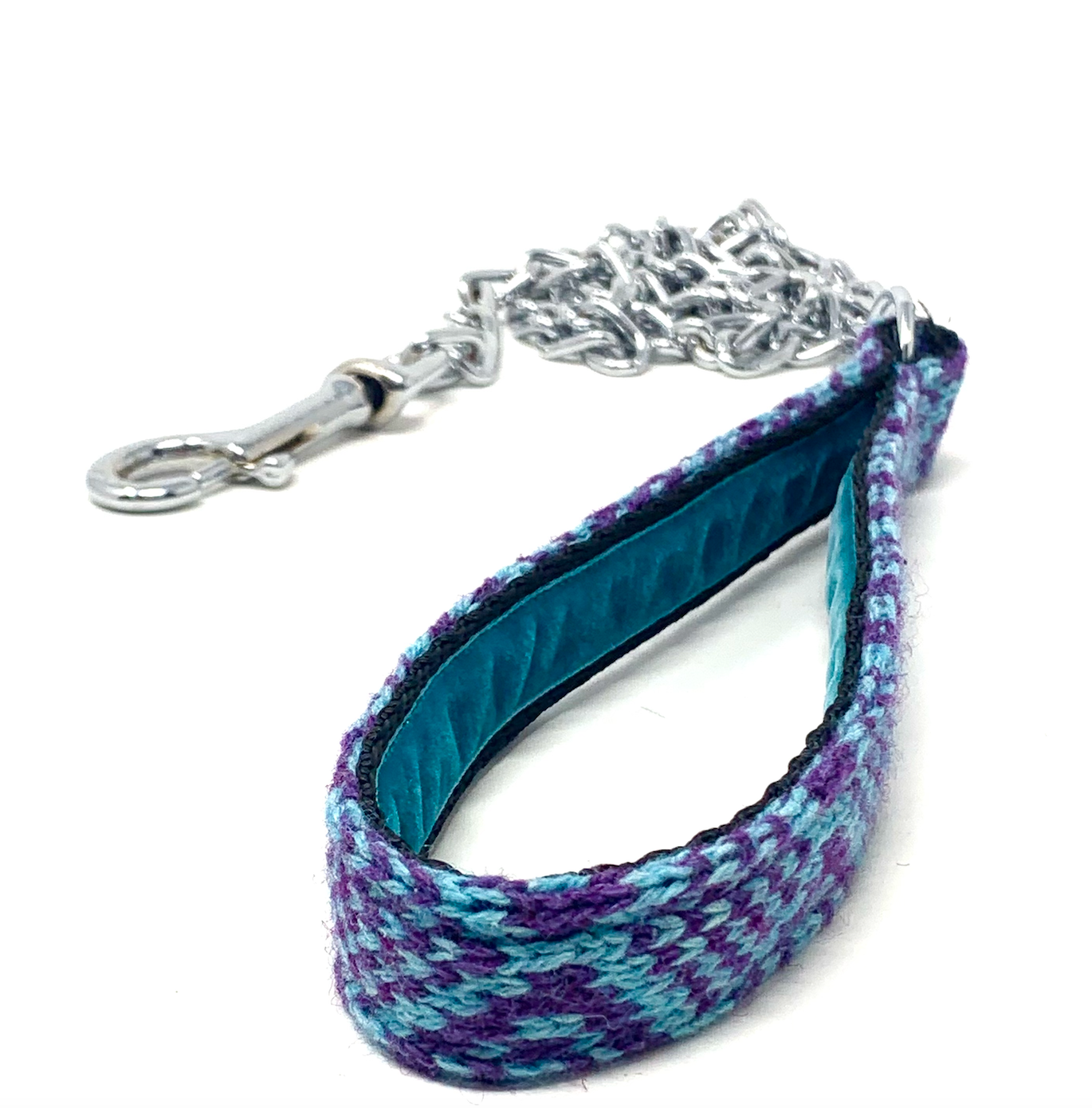Purple & Turquoise - Barclay Design - Chain Dog Lead