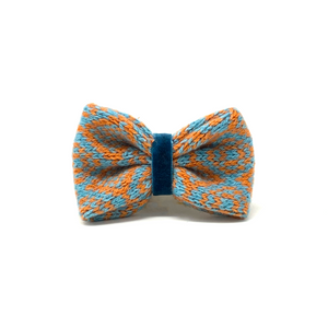 Turquoise & Orange - Barclay Design - Dog Bow Tie