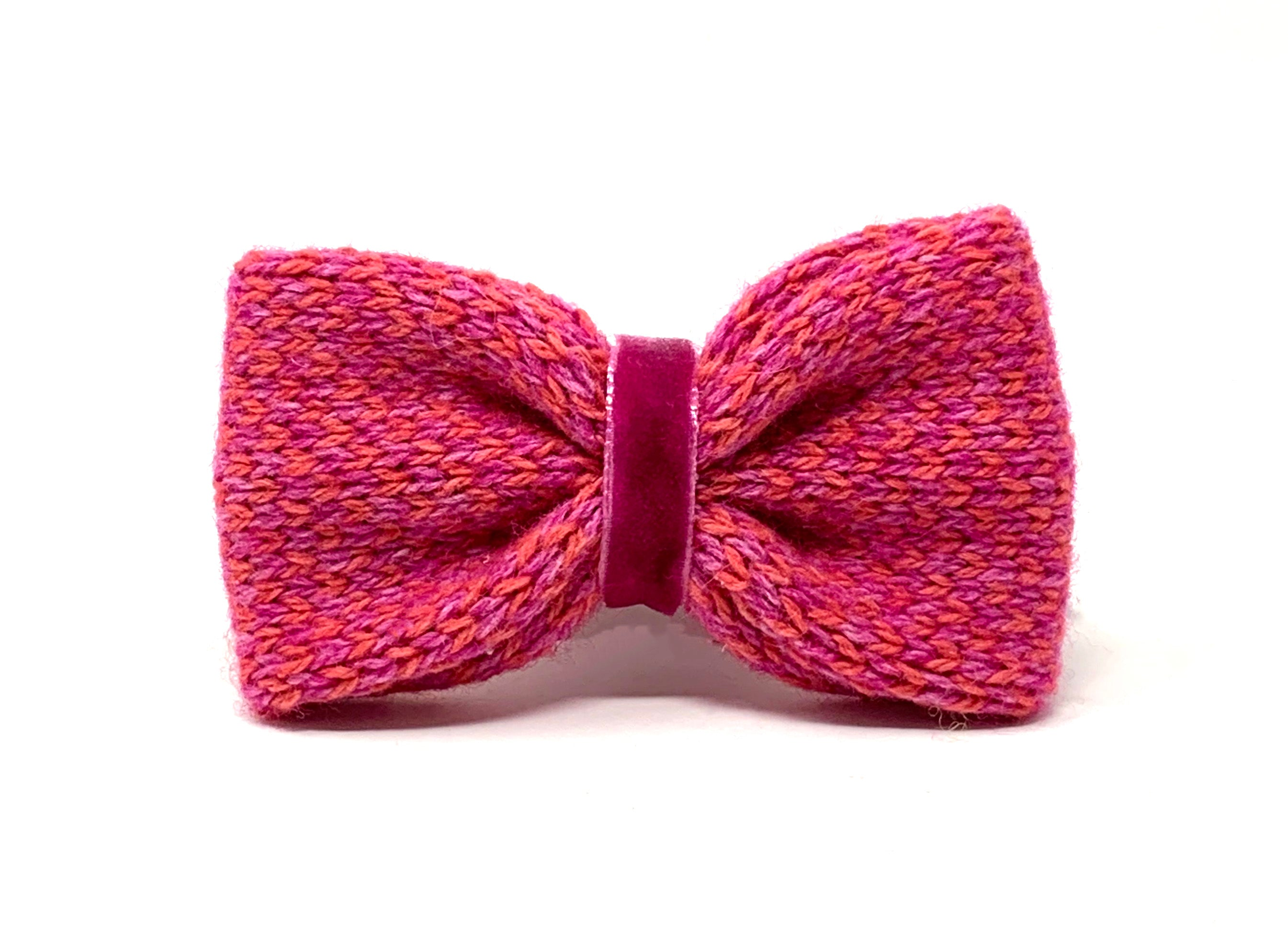 Geranium & Pink - Harris Design - Dog Bow Tie