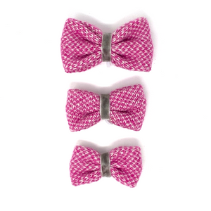 Pink & Dove - Harris Design - Dog Bow Tie