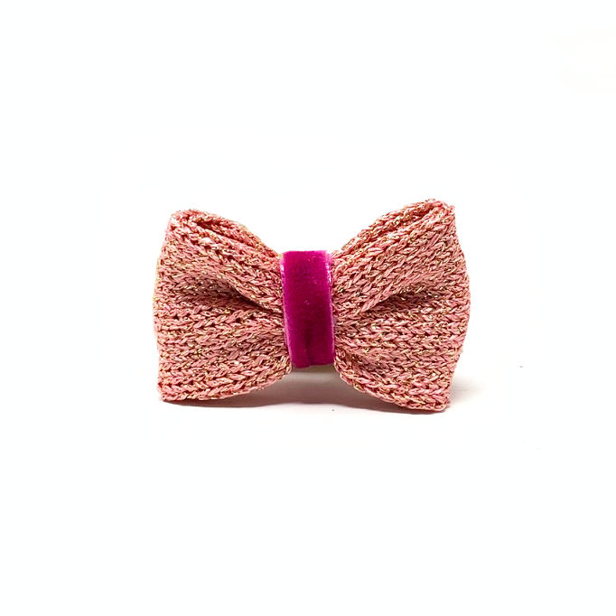 Pink Sparkle - Block Design - Dog Bow Tie