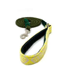 Yellow & Dove - Barclay Design - Rope Dog Lead