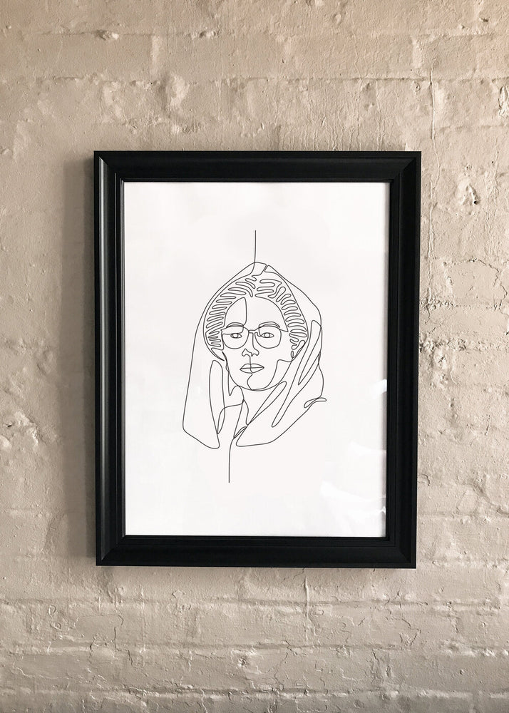 Line Drawing: Benazir Bhutto