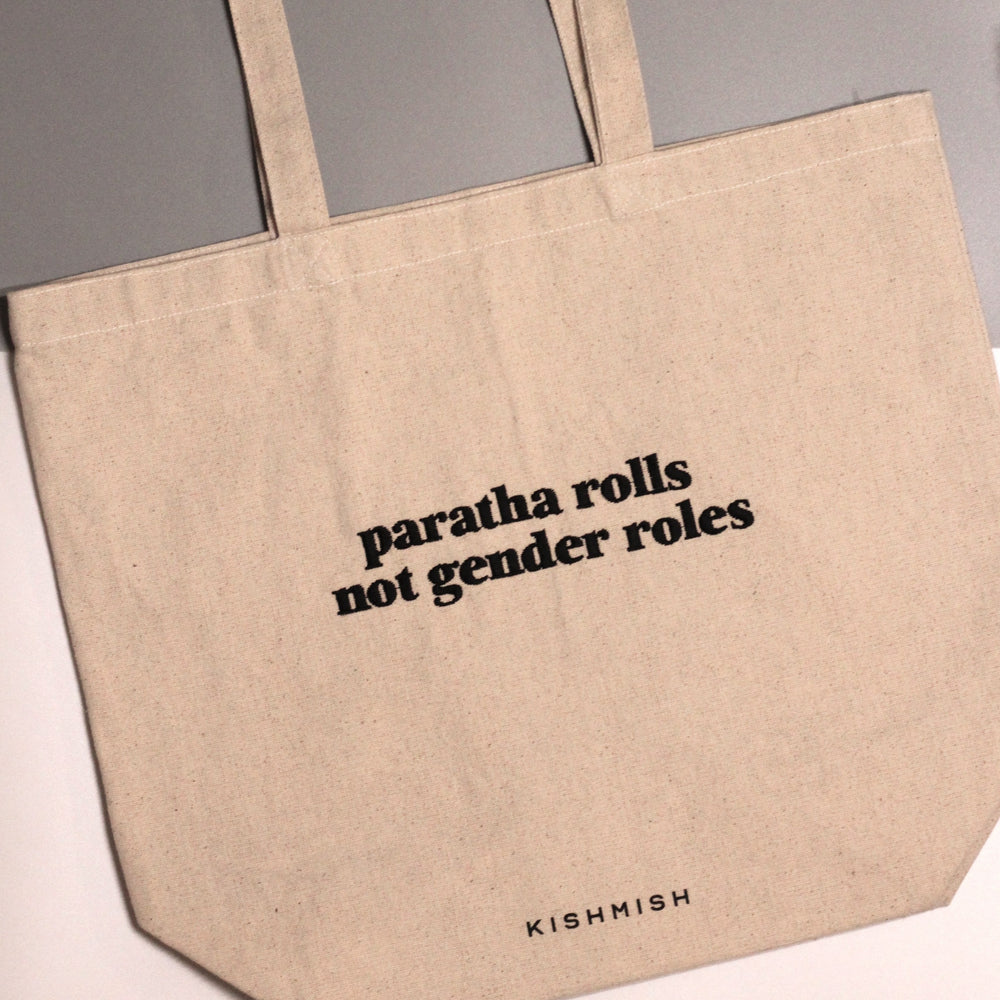 Load image into Gallery viewer, Paratha Rolls Canvas Tote