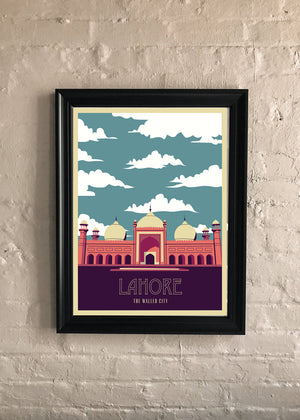 Lahore: Retro Travel Print