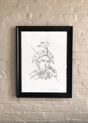 Load image into Gallery viewer, Line Drawing: Nur Jahan