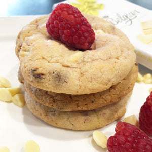 Raspberry + White Chocolate Cookies (6pk)