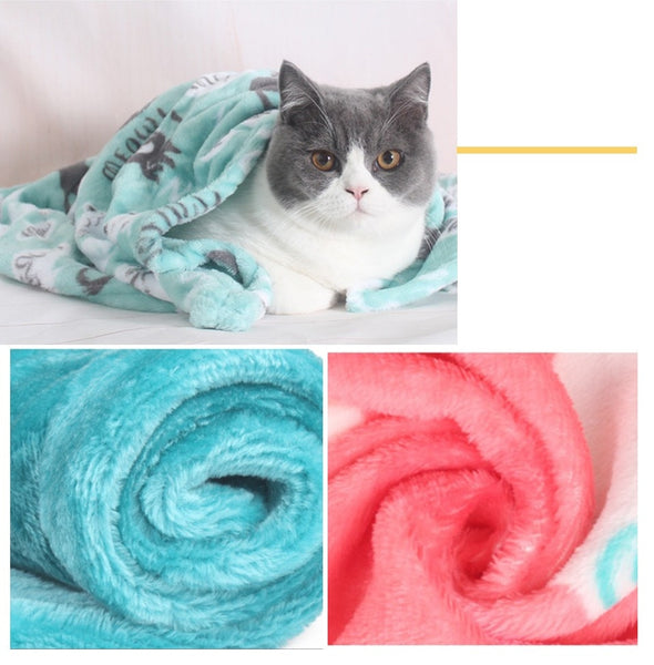 Pet blanket Cat Sleeping Mat Coral Fleece