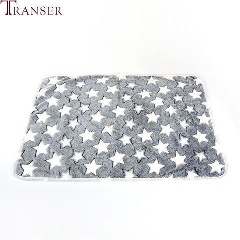 Transer Dog Bed Soft Flannel Fleece Star Print