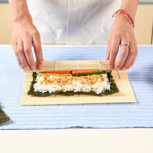 Sushi Set Bamboo Rolling Mats Rice Paddles Tools Kitchen