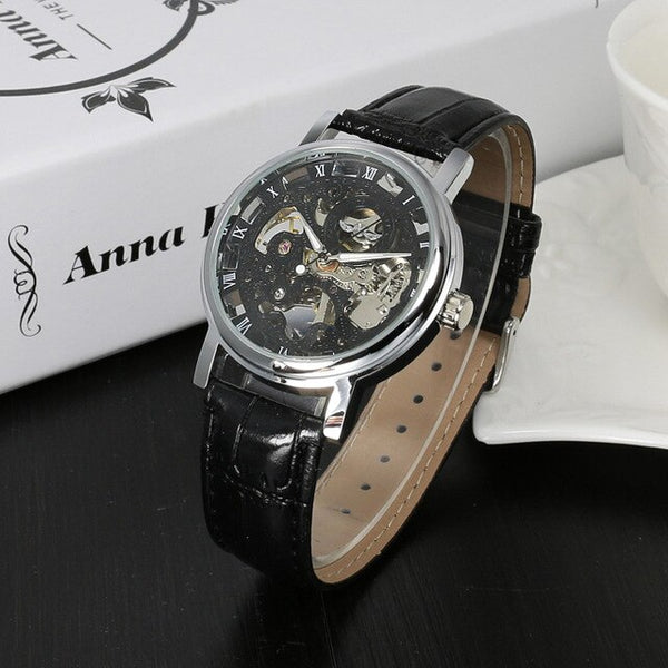 Luxury Fashion Casual Stainless Steel Men Mechanical Watch