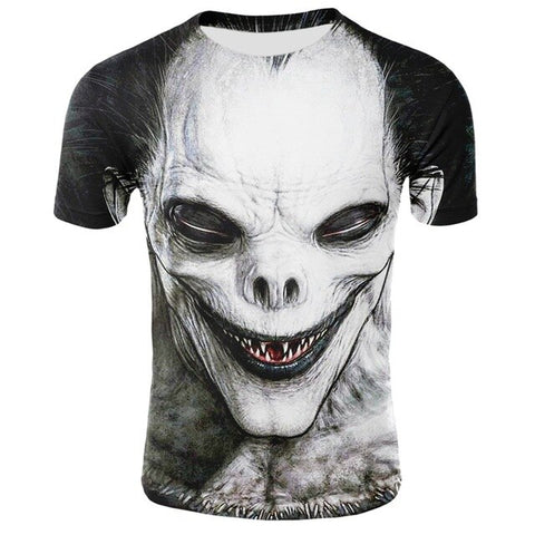 Clown 3D Printed T-Shirt Men Joker Face