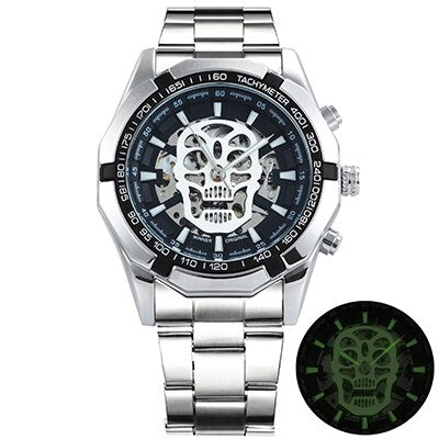 Watch Men Skeleton Automatic Mechanical Gold Skeleton Vintage