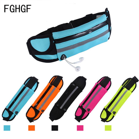 Waterproof Running Waist Bag Canvas Sports Jogging Portable Outdoor
