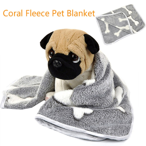 Coral Fleece Pet Blanket Dog Bed Cat Mat