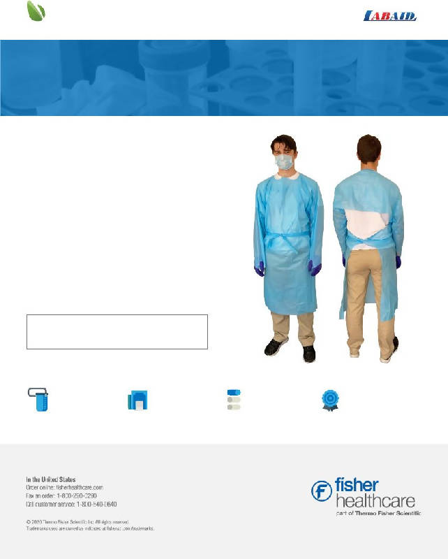 LABAID THUMB HOOK ISOLATION GOWN - HealthEquip