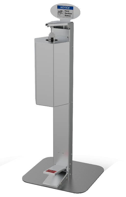 Medium Use Touchless Hand Sanitizer Stand - HealthEquip