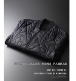 Winter Parka Men Luxury Stand Collar Add Padding, Fashion Slim Fit Male Coats