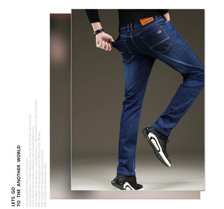 Royal Anvil 2020 New Men's Slim Elastic Jeans Fashion Business Classic Style  Jeans Denim Pants Trousers Male 5 Model
