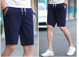 2020 Men's Casual Shorts High Quality Linen Cotton Comfort Shorts Male Streetwear Solid Color Loose Fashion Shorts Men