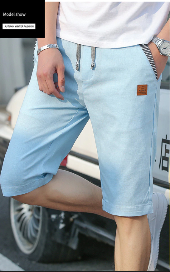 2020 Linen Mens Shorts Newest Summer Casual Shorts Men Cotton Fashion Men Short Bermuda Beach Short Plus Size S-4xl Joggers Male