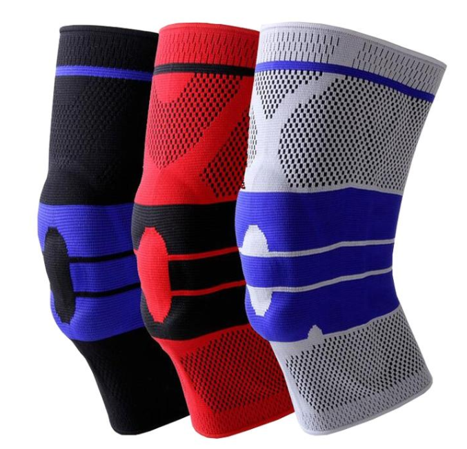 1PC Silicone Collision-proof Knee Pad Spring Running Basketball Riding Fitness Knee Support Brace