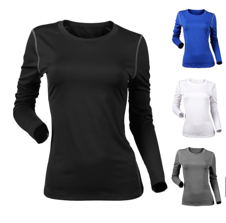 NEW Women Compression Yoga Shirt,Long Sleeve Seamless,Running Athletic T-Shirt,Fitness Workout Tops Sports Shirts