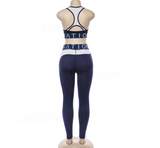 Sexy Yoga Set Women Fitness Running Suits Breathable Tops+Pants Gym Workout Clothes High Elastic Yoga Leggings Sport Suit Tights