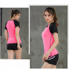 Yoga Shirts Women Gym Sport Tops Fitness Running Tights Clothing Short Sleeve Shirt Training Sportswear Workout Jerseys Quickdry