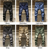 Men Skinny Jeans Stretch Mens Colourd Jeans Fashion Slim Fit  Jeans Casual Pants Trousers.