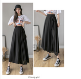 Loose High Waist Pants 2020 Summer New Korean-Style Pleated Chiffon Trousers Plus Size 4xl Casual Pants Skirt Harajuku 96D
