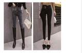 ripped jeans Women 2020 New Autumn High Waist Casual Elastic Cotton Denim Slim Fit Pencil Pants Slim Women's jeans Pants 865E