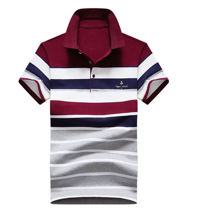 Slim Striped Polo Shirt Breathable Short Sleeve Men Fashion Business Casual,Polo Shirt Men Short Sleeve
