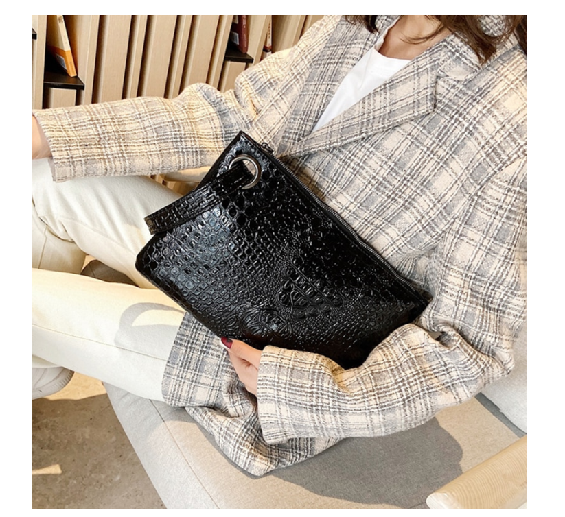 Pochette Femme Fashion Clutch Bag Female Small Purse Crocodile Grain Women's Clutch Bag PU Leather Women Envelope Bag