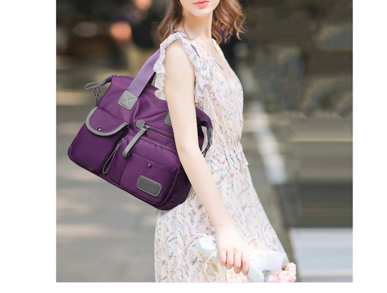 Multifunction Luggage Handbags for Women Large Pocket Casual Tote Nylon Waterproof Crossbody Shoulder Bags Totes Bolsa Feminina
