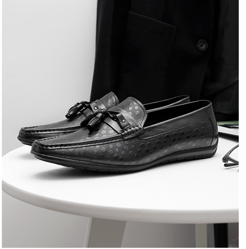 Men Genuine leather brogue Business Wedding banquet shoes mens casual flats shoes vintage oxford shoes for men black coffee 2020