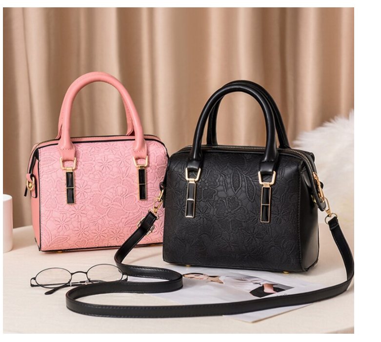 Fashion Women Handbags Luxury Designer PU Leather Totes Top-handle Embroidery Crossbody Bag Shoulder Bag Lady Simple Messenger 2020